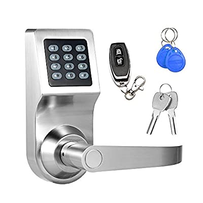 Keyless Electronic Digital Smart Door Lock, Keypad – Smartcode Security, Grant & Control Access for Home, Office