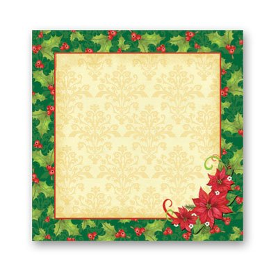 Poinsettia Lunch Napkin 16 Ct,Axiom International,72444 by DollarItemDirect