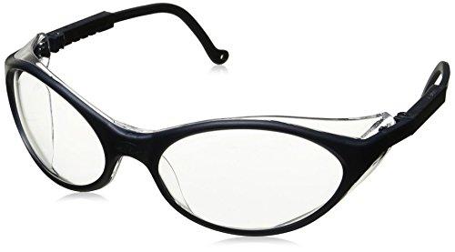 (Uvex S1620X Bandit Safety Eyewear, Slate Blue Frame, Clear UV Extreme Anti-Fog Lens)