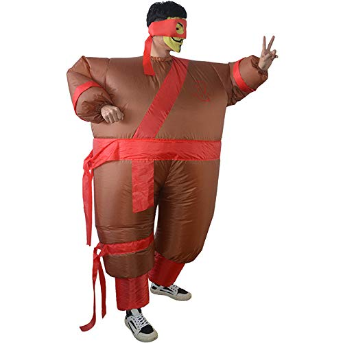 HHARTS Adult Funny Ninja Inflatable Costume Blow up Costume for Halloween Cosplay Party Christmas -
