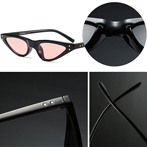 Clásico A Gafas de Style de Retro Mujer Moda Triángulo Pequeño Sol Gafas Marco 2 BOZEVON fYvqOf