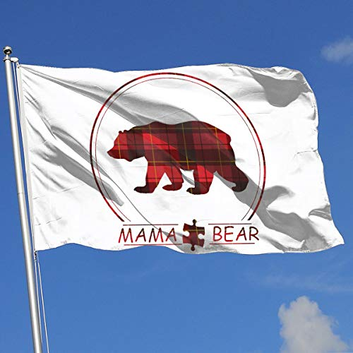 Buffalo Plaid Mama Bear Flag 3x5-Flags 90x150CM-Banner 3'x5' FT