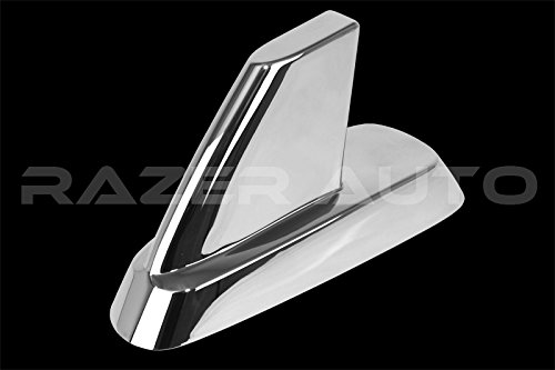 Razer Auto Chrome Antenna Cover for 07-13 Chevy Silverado 1500/2500/3500,07-14 Tahoe,Suburban, 07-13 GMC Sierra 1500/2500/3500, 07-14 GMC Yukon, Yukon XL Chrome Antenna ()