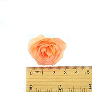10pcs 3cm Mini Silk Artificial Rose Flowers Cloth for Wedding Party Home Room Decoration DIY Accessories Fake Flowers,Champange 2