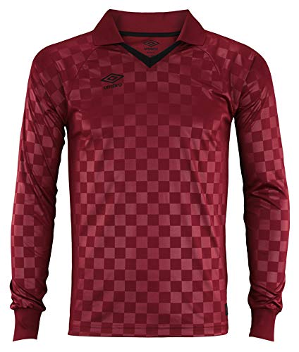 Umbro Mens The Checker Ls Maroon/Black Beauty Size M