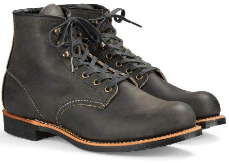 Grey Wings - Red Wing Heritage Men's Blacksmith Work Boot, Charcoal Rough Tough, 9.5 D US