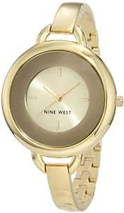 Nine West Women's NW/1242CHGB Gold-Tone Bangle Watch