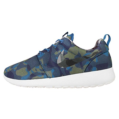 Nike Wmns Roshe One Print - Zapatillas Mujer Azul