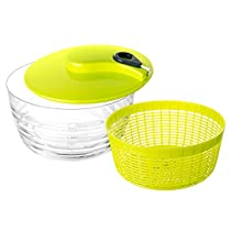Pictek Salad Spinner, [Multi-Use] Compact Kitchen Aid Water Filting Basket For Drying Salad, Vegetables, Fruit, Pasta, etc with Durable Top of the Line, Large Size, Green