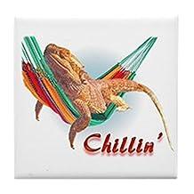 CafePress - Bearded Dragon Chillin - Tile Coaster, Drink Coaster, Small Trivet