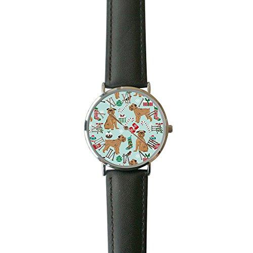 Leather Griffon Watch - Women's Brussels Griffon Casual Watch Fashion Leather Analog Wrist Watches