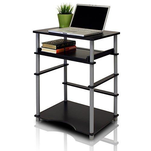 Home Laptop Notebook Computer Desk II, Black/Gray