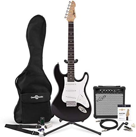Set Completo de Guitarra Electrica LA + Amplificador de 15 W Black ...