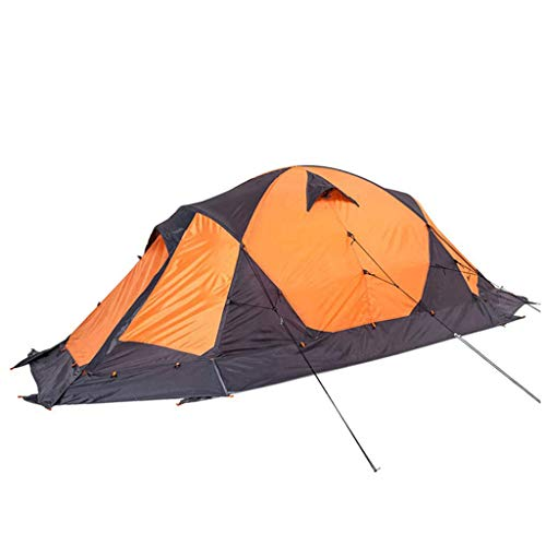 IDWO-Tent Tent with Snow Skirt Windproof Sandproof Four Seasons Double Double Camping Tent,Orange