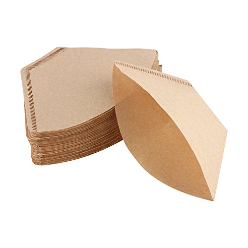 200Pcs Unbleached Coffee Filter Papers Cones Cups Brewer Espresso Strainer Dripper Natural (Cone Filter Paper Natural)