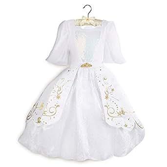 Disney Ariel Designer Wedding Gown Costume for Kids Size 4 White