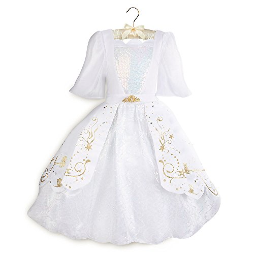 Disney Ariel Designer Wedding Gown Costume for Kids White