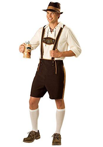 Ethnic Halloween Costumes (Men germany beer festival costume ethnic cos dress 2828 (XXL, Coffee))