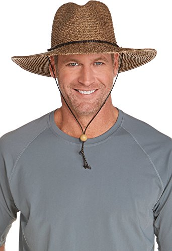 Coolibar UPF 50+ Men's Beach Comber Sun Hat (Small/Medium - Brown/Natural)