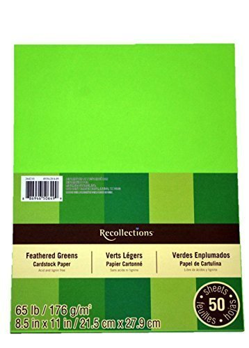Recollections Cardstock Paper, 8 1/2 X 11 Feathered Greens - 50 Sheets ()