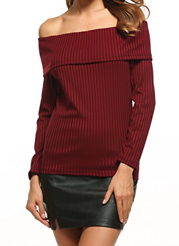 Zeagoo Fashion Shoulder Pullover Sweater