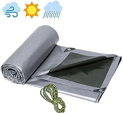 Lona Resistente Exterior, Lona Impermeable Camping, Lonas Impermeables Exterior para Toldos Tienda de Campaña Jardín Piscina 0.4mm Resistente al Agua, 0.4mm Gris,5×8M/16×26ft: Amazon.es: Deportes y aire libre