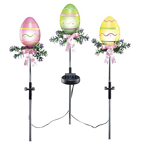 Solar Easter Egg Stakes Set