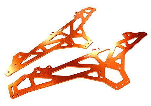 Integy RC Model Hop-ups C26394ORANGE Billet Machined Main Chassis for HPI 1/10 Scale Crawler King (Chassis Main Alloy)