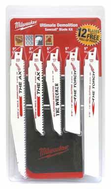 12-Piece Sawzall Blade Kit (Electric Sawzall Kit)