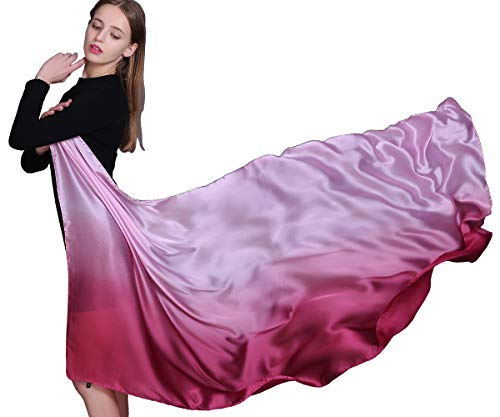 Women Long Large Lightweight Sunscreen Scarves Gradient Colors Shawl ()