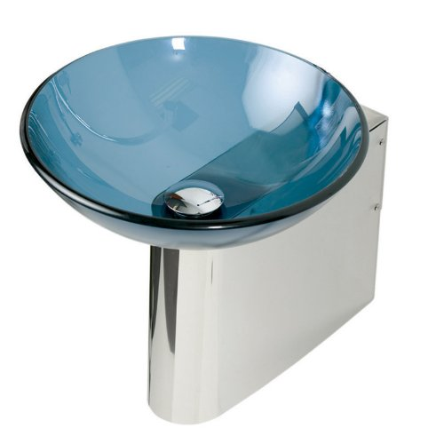 Decolav Umbrella Drain (DECOLAV 4011-P Wall Mounted Bracket with Single Hole Faucet Deck, Stainless Steel)
