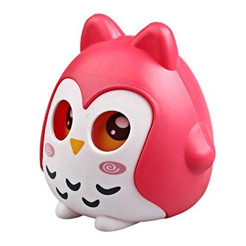 TP7 Red Zero Owl Shape Piggy Bank Coin Money Box Saving Pot Decoration Kids - Shape Acrylic Award