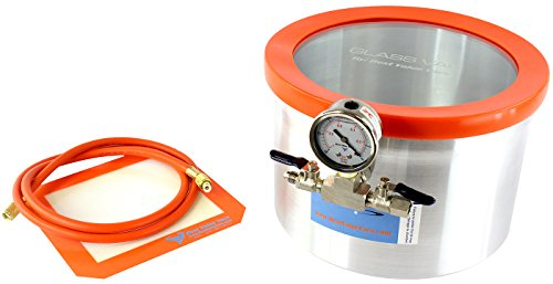 (Glass Vac 2 Gallon Aluminum Wood Stabilizing Vacuum Degassing Chamber)