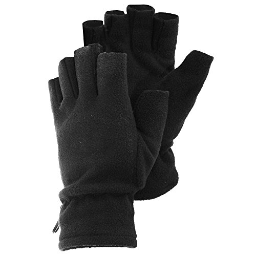 Womens/Ladies Fingerless Winter Fleece Gloves (One Size) (Lady Fleece Glove)