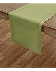 Solino Home Hemstitch Linen Table Runner, Placemats and Napkins