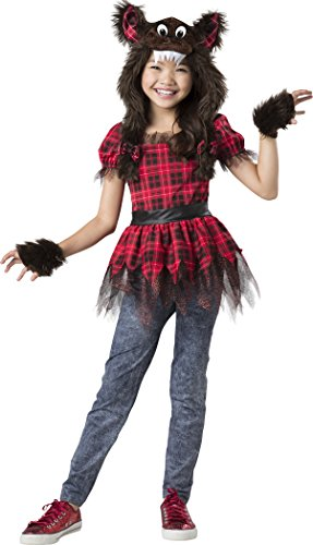 InCharacter Werewolf Cutie Costume, Dark Brown/Red, (Werewolf Girl Dress Up)