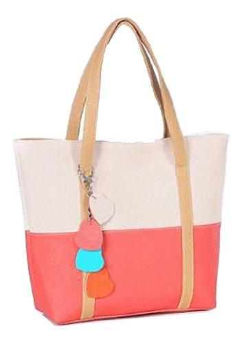 C&L 1PC Sweet Elegent Mixed Color Totes Chain Pendants Hobo Shoulder Bag Handbag (Hot Pink)