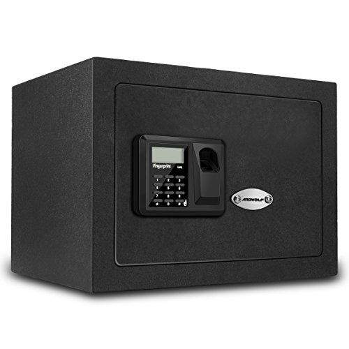 Ardwolf AS40 Security Safe Box Biometric Fingerprint Handgun Safe, Black by Ardwolf