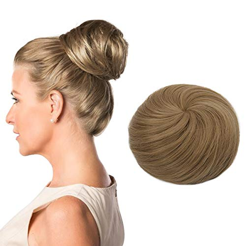 Donut Chignon Clip in Hair Bun Extension Blond Ballerina Synthetic Hairpieces Drawstring Updo Hair Piece Brown Brunette For Women Gril Lady Accessories SARLA Q3&16/22