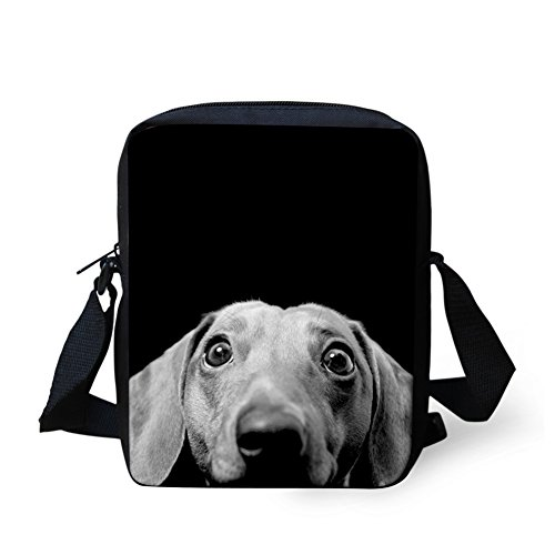 Cross Messenger Coloranimal Adjustable Handbag Dachshund for Bag body Travel 6 Women Small Dog 005qrpR