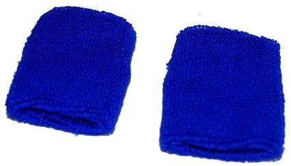 PAIR OF COTTON BLUE SWEATBANDS WRISTBANDS WRIST