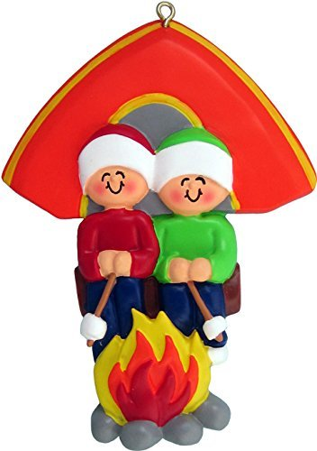 Ornament Central Two People Camping Ornament OC-279-2 (People Ornament Christmas)