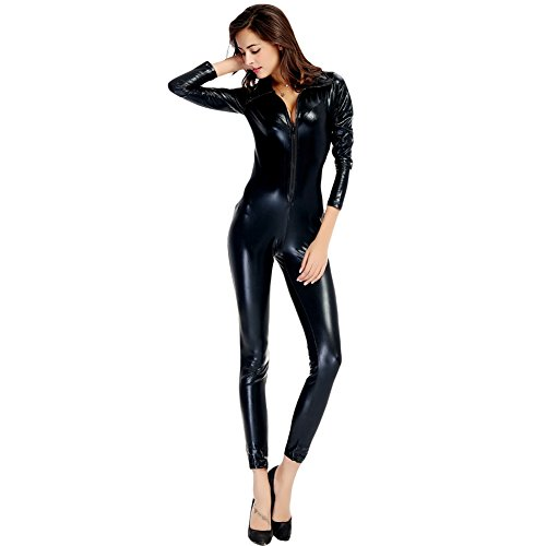 Costour Patent Leather Pants Men and Women Wear Neutral Leather Nightclub Steel (Male Genie Costume Ideas)