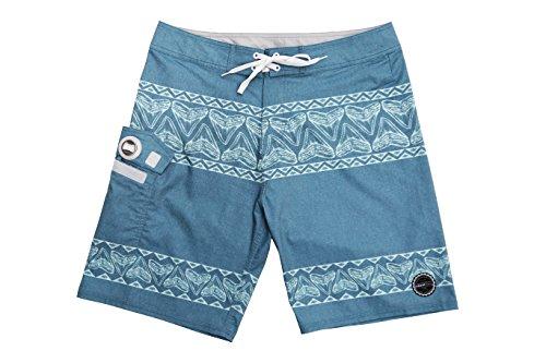 ISLAND DAZE BBO - Mens Boardshort Bottle Opener Fishing Shorts Plier Pocket UV Blocking Swim