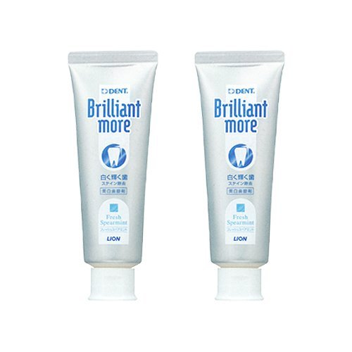 Lion Brilliant More Fresh Spearmint 90g 2 Tubes by Lion