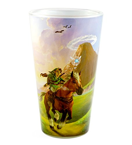 The Legend Of Zelda : Breath of the Wild Pint Glass - Novelty Drinking Glasses Kids Gifts Toys Yong Link Fan Video Games (Nintendo Switch), 16 -