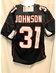 David Johnson Arizona Cardinals Signed Autograph Black Custom Jersey JSA Witnessed Certified