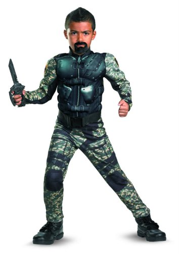 G.i. Joe Retaliation Roadblock Classic Muscle Costume, Black/Camo,