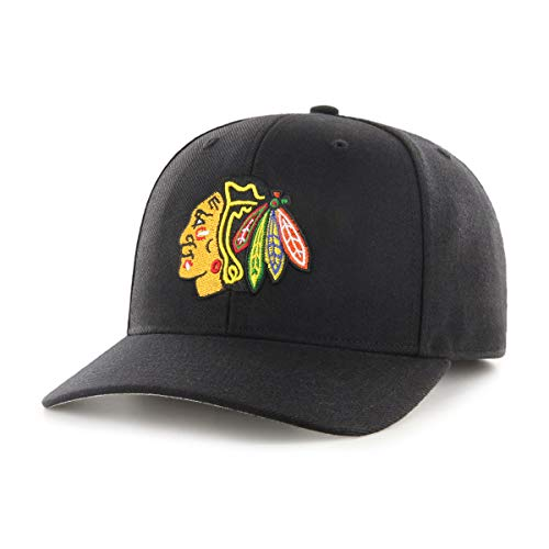 OTS NHL Chicago Blackhawks Male All-Star Dp Adjustable Hat, Black, One Size