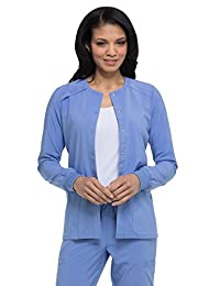 Dickies EDS Essentials DK305 Women's Snap Front Warm-up Solid Scrub Jacket